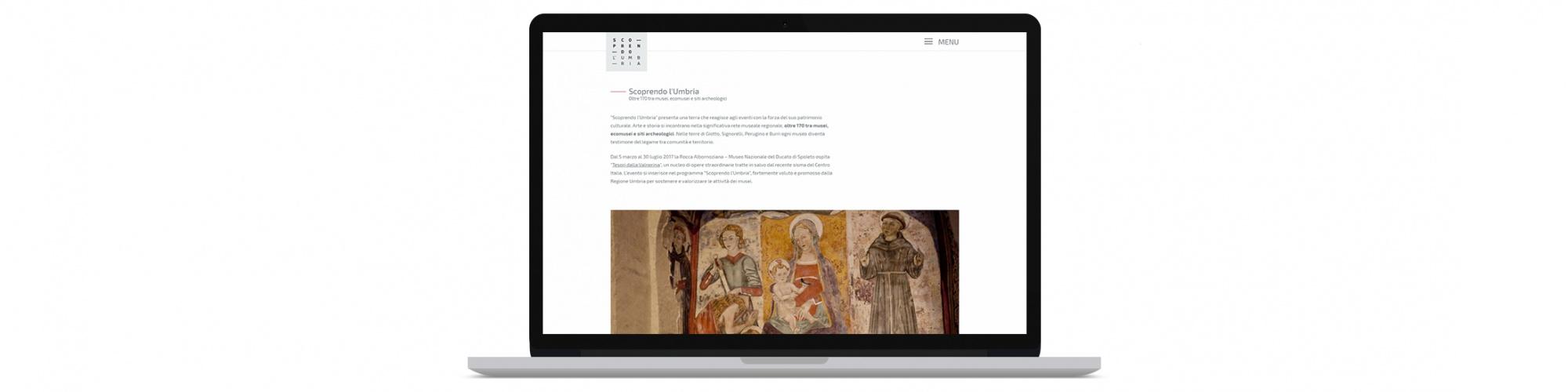Sito web per scoprire la regione Umbria
