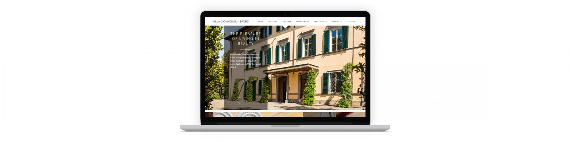 Sesinet Portfolio | Sito web per Villa Giovagnoli - Sforzi