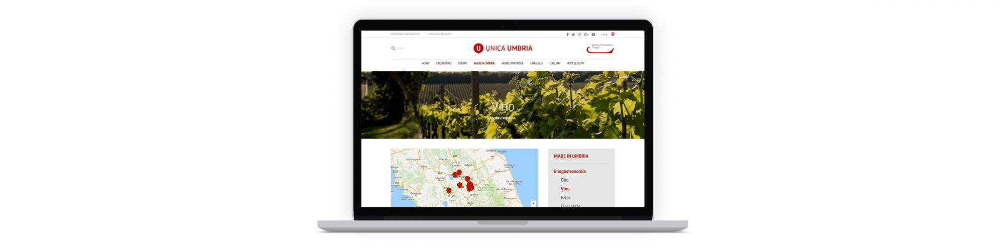Sesinet Portfolio | Sito web per Unica Umbria